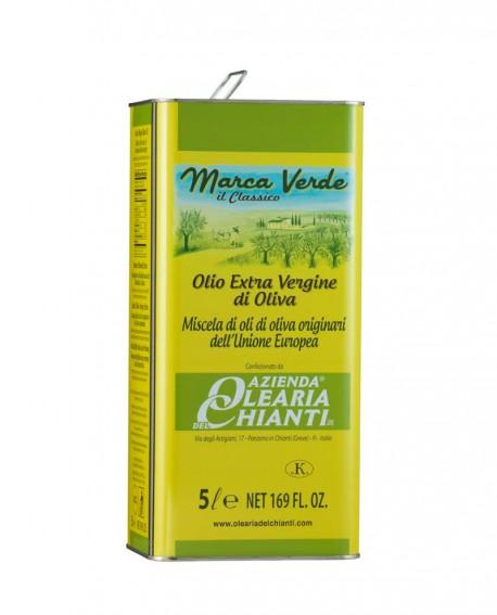 Lattina Marca Verde - Olio Extravergine d'oliva Comunitario E.U. - lattina 5 lt. - Azienda Olearia del Chianti