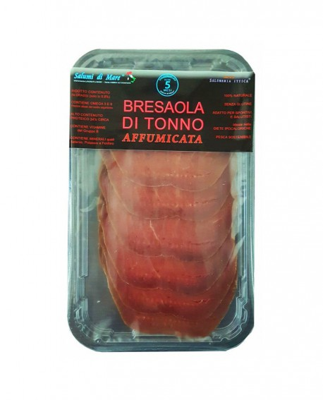 Affettato Bresaola di Tonno affumicata - skin 50g - Salumi di Mare