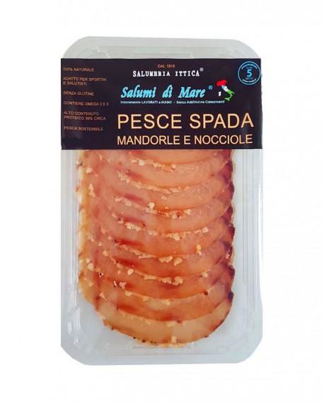 Affettato Pesce Spada in crosta di mandorle e nocciole - skin 50g - scadenza 33gg - Salumi di Mare