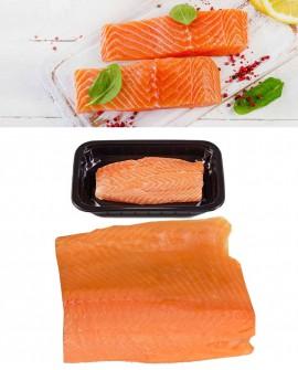 Salmone filetto - vaschetta ATM - 1kg-1,2kg - menosessanta Pescheria F.lli Manno