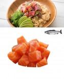 Poke Tataki di Salmone - congelato - busta da 500g - gourmet Pescheria F.lli Manno