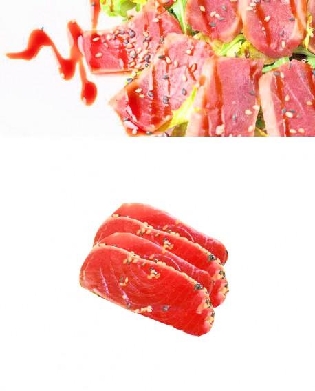 Sashimi Tranci Takaki di Tonno Alalunga - congelato - in vaschetta 500g - gourmet Pescheria F.lli Manno