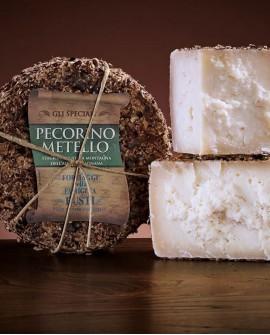 Pecorino Metello 1.3 kg sottovuoto mezza forma - Garfagnana - latte ovino - Caseificio Formaggi Busti