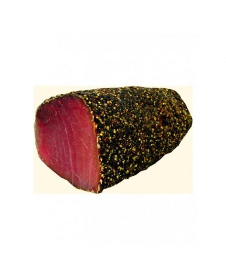 Tonno bresaola filetto Pepe nero indiano stagionato oltre 5 mesi - 500g - scadenza 90gg - Salumi di Mare