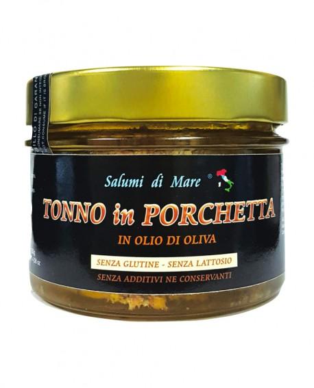 Porchetta di Tonno in Olio - vaso vetro 170g - scadenza 36 mesi - Salumi di Mare