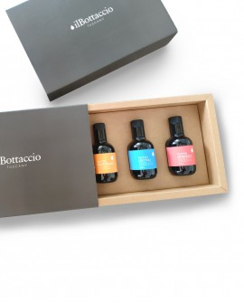Astuccio Regalo Olio Extravergine d'Oliva Italiano TRIS Monocultivar - n.3 bottiglie da 250ml - Olio il Bottaccio
