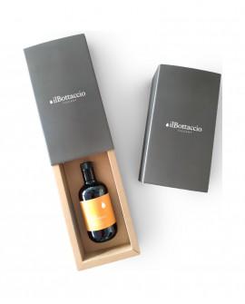 Astuccio Regalo Olio Extravergine d'Oliva Italiano TUTTO FRANTOIANO Monocultivar n.1 bottiglia da 500ml - Olio il Bottaccio