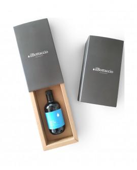 Astuccio Regalo Olio Extravergine d'Oliva Italiano TUTTO LECCINO Monocultivar n.1 bottiglia da 500ml - Olio il Bottaccio