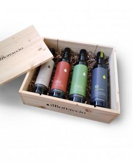 Cofanetto Regalo SET OLIO EVO n.4 bottiglie da 500ml - Olio il Bottaccio