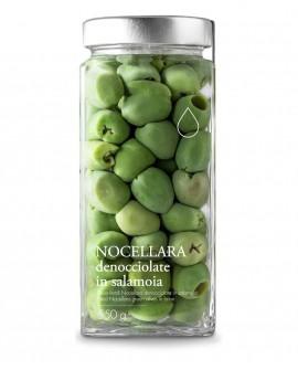 Olive verdi Nocellara denocciolate in salamoia - 550g - Olio il Bottaccio