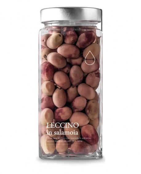 Olive nere Leccino in salamoia - 1600g - Olio il Bottaccio