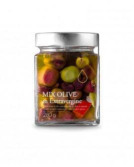 Mix di Olive in olio extra vergine - 280g - Olio il Bottaccio