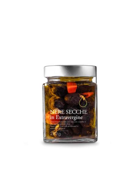 Olive nere secche in olio extra vergine - 280g - Olio il Bottaccio