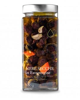 Olive nere secche in olio extra vergine - 550g - Olio il Bottaccio