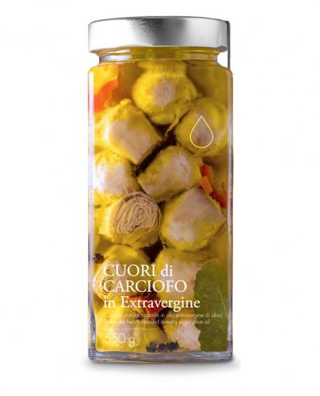 Sottolio Cuori di Carciofo in olio extra vergine - 550g - Olio il Bottaccio
