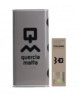 Olio Extravergine d'Oliva Classico Biologico 100% italiano - 5Lt - Olio Querciamatta