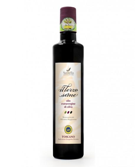 Olio Il Terzo Seme, Toscano IGP Bottiglia da 500 ml - Olearia Santella