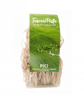 Pici Toscani - Pasta Artigianale di Grano Antico Senatore Cappelli (macinato a pietra) - 500 g - Podere San Bartolomeo