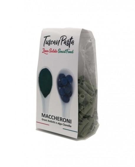 Maccheroni + Clorella – Pasta artigianale Grani antichi con aggiunta di alghe Clorella. 250 g - 250 g - Podere San Bartolo
