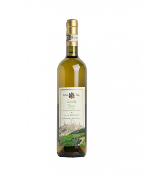 """Vernaccia di San Gimignano DOCG Riserva """"Isabella"""" 2017  Biologico - bottiglia da 0,75 lt - Azienda Agricola San Quirico"""