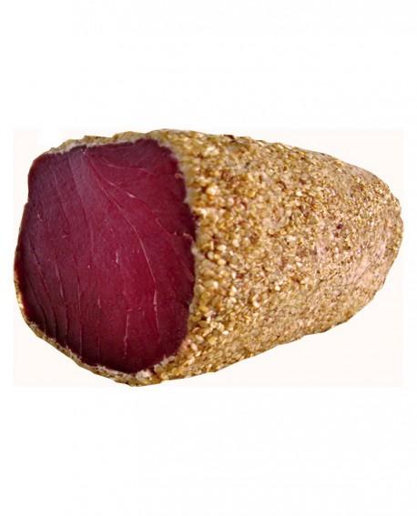 Tonno bresaola in crosta di sesamo filetto stagionato oltre 5 mesi - 1 kg - scadenza 90gg - Salumi di Mare