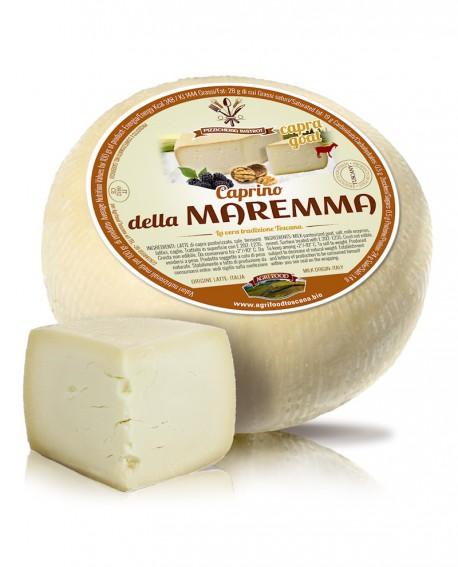 Caprino della Maremma stagionatura 30g - con caglio vegetale - 1,6 kg - Agrifood Toscana