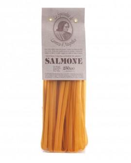 Salmone Tagliatelle  Germe di Grano Lorenzo il Magnifico 250 gr Pasta Aromatizzata Antico Pastificio Morelli