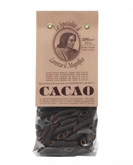Cacao - Penne Lorenzo il Magnifico 250 gr Pasta Aromatizzata - Antico Pastificio Morelli