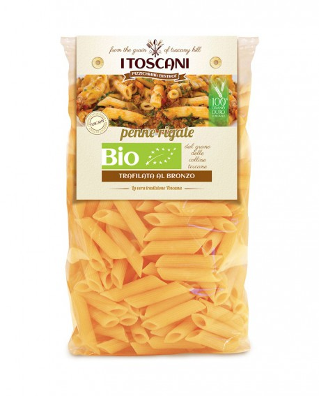 Penne rigate linea biologica artigianali di grano duro - 500g - Agrifood Toscana
